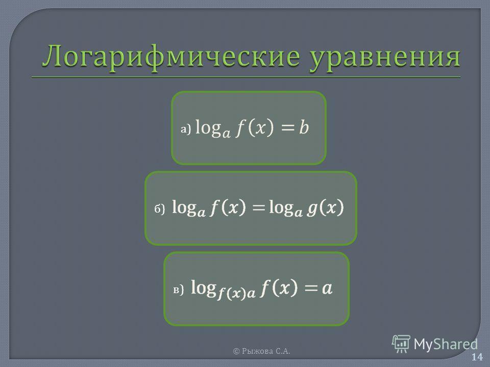 © Рыжова С. А. 14 а)а) б)б) в)в)