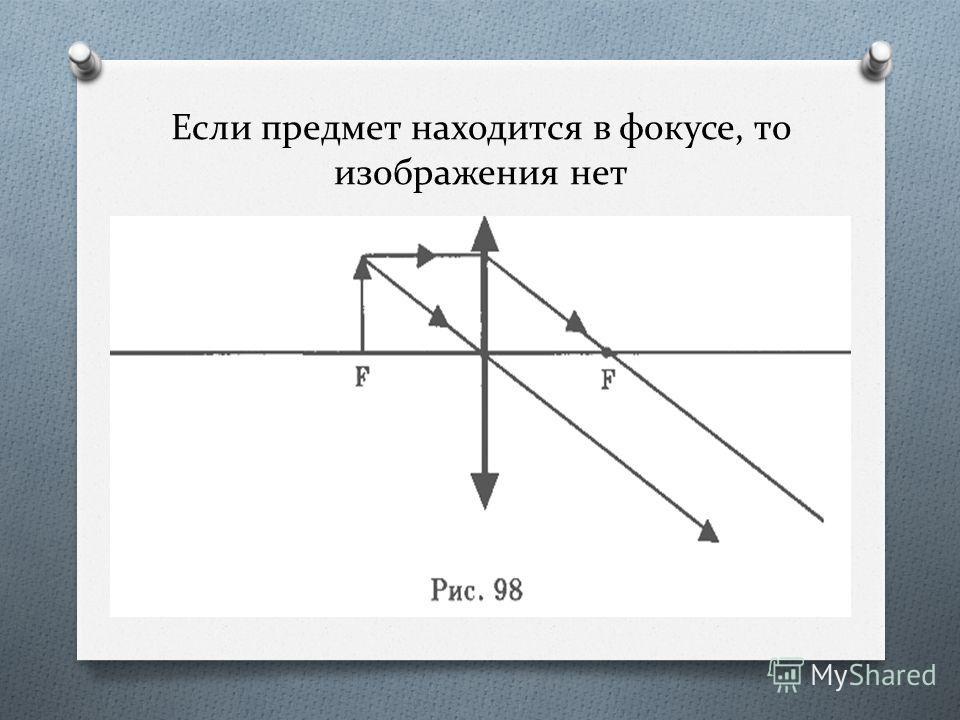 Если предмет находится между фокусом и двойным фокусом, то изображение действительное, обратное, увеличенное