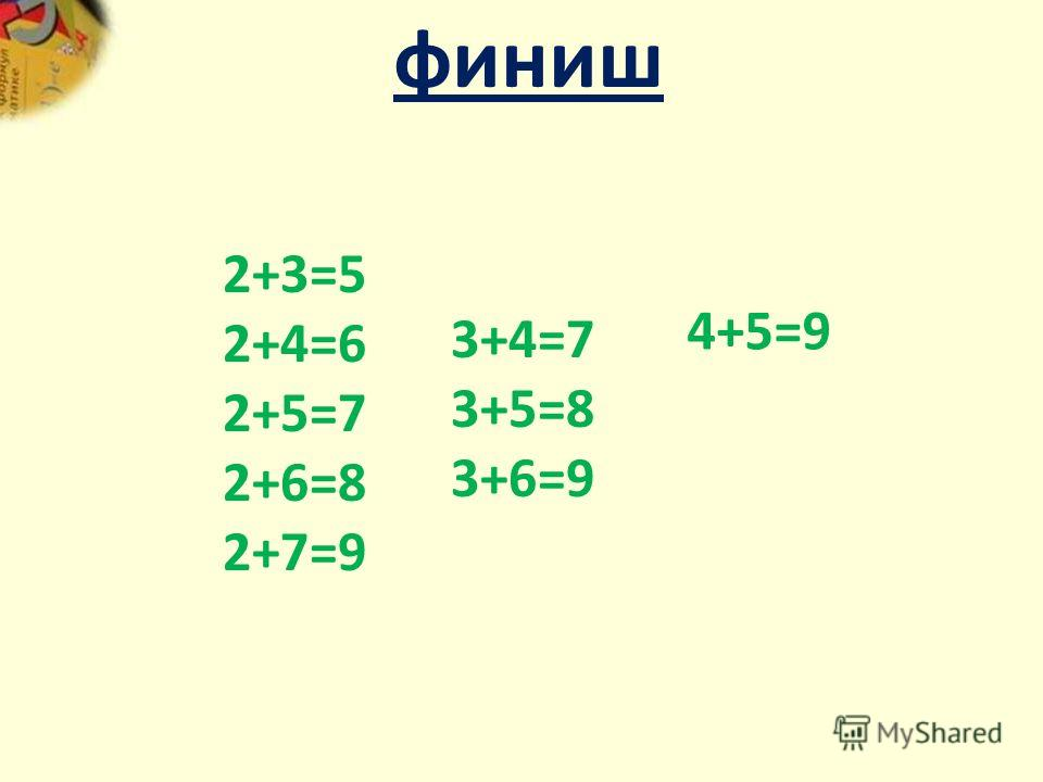5 это 2 и … 3 9 это 7 и… 2 6 это 4 и … 2 9 это 4 и…5 7 это 2 и… 5 8 это 6 и…2 7 это 4 и…3 9 это 3 и … 6 8 это 5 и …3