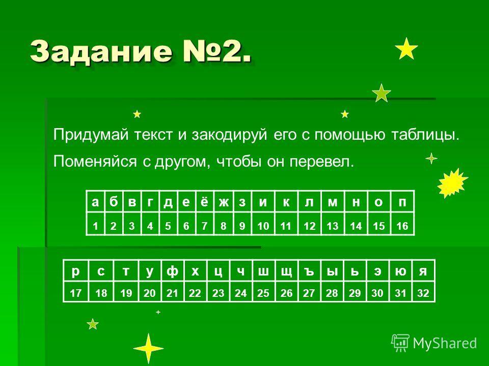 Желаю счастья в личной жизни. Пух. Переведи по кодовой таблице поздравление, которое Вини Пух составил для ослика.