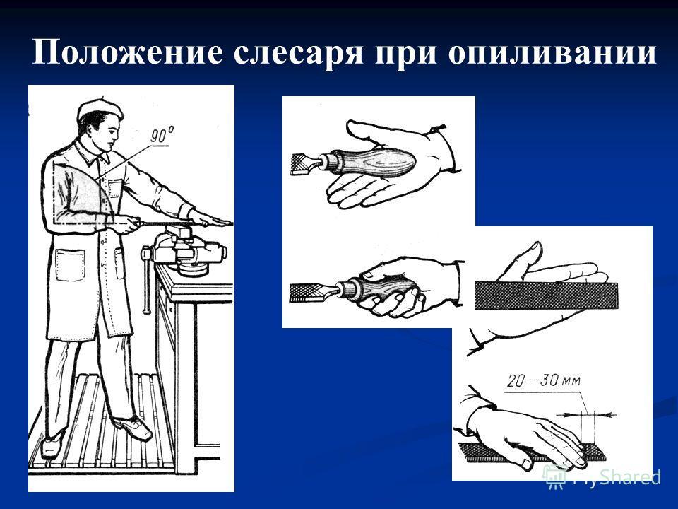 Схемы слесарных операций