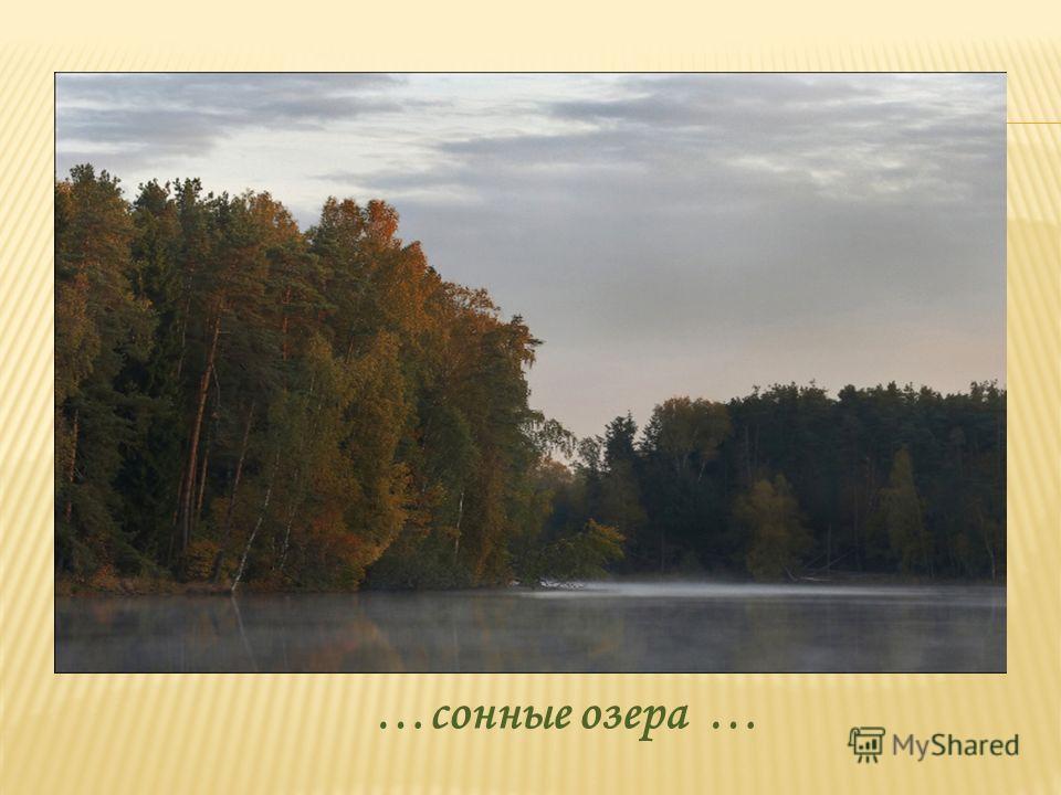 …сонные озера …