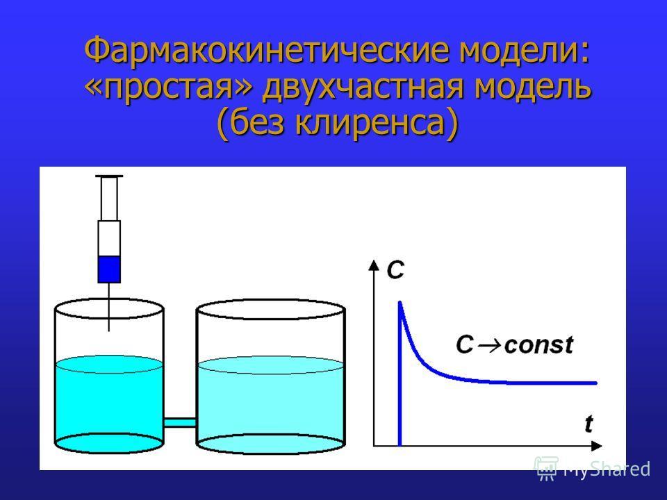 Фармакокинетические модели: «простая» двухчастная модель (без клиренса)