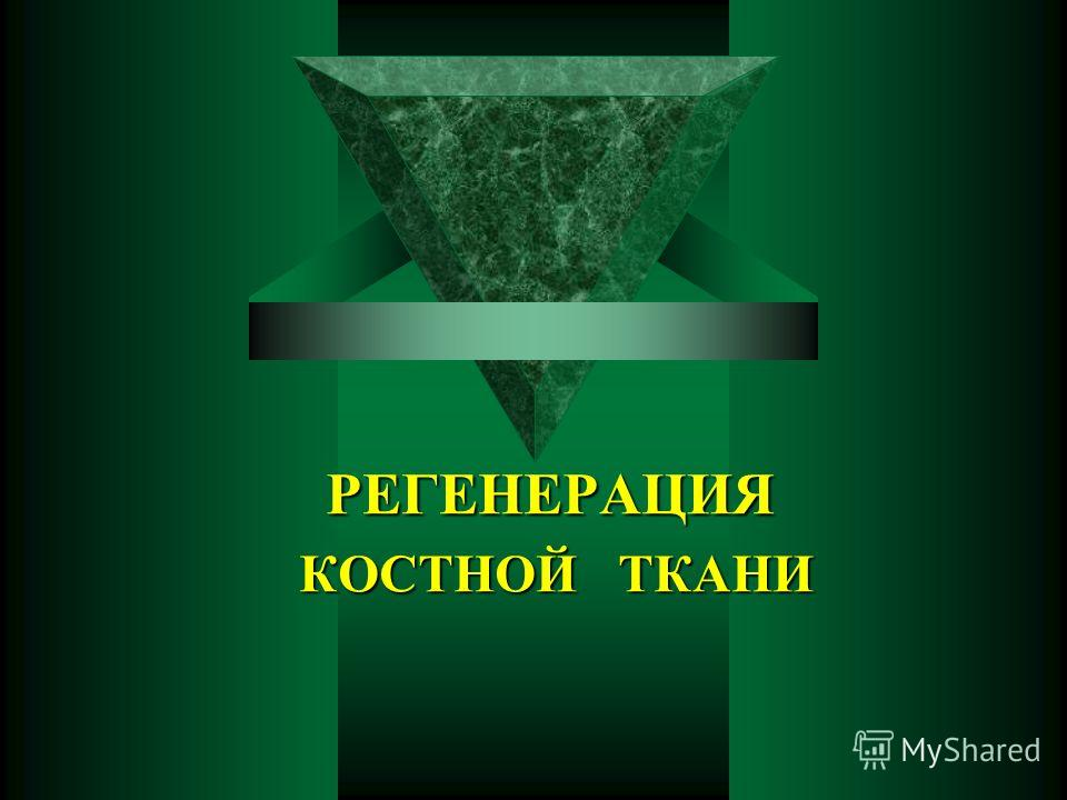 РЕГЕНЕРАЦИЯ КОСТНОЙ ТКАНИ КОСТНОЙ ТКАНИ