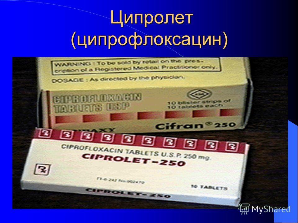Ципролет (ципрофлоксацин) Ципролет (ципрофлоксацин)