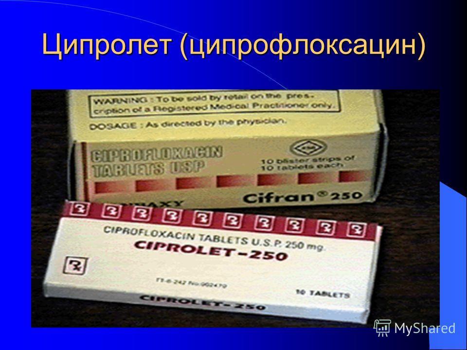 Ципролет (ципрофлоксацин)