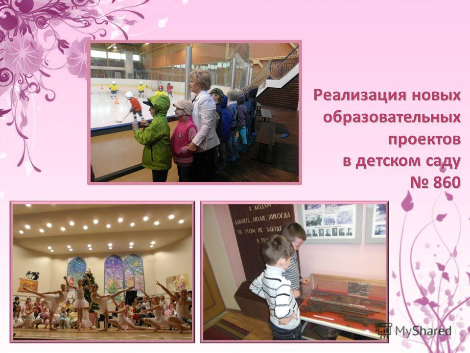 Реализация новых образовательных проектов в детском саду 860 860