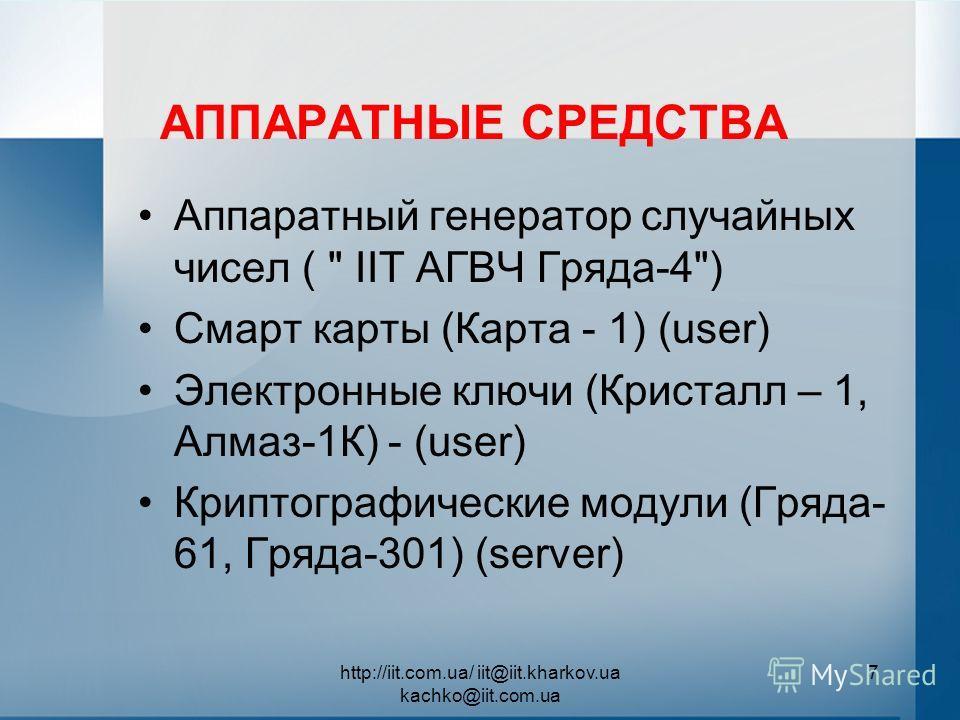 АППАРАТНЫЕ СРЕДСТВА Аппаратный генератор случайных чисел (