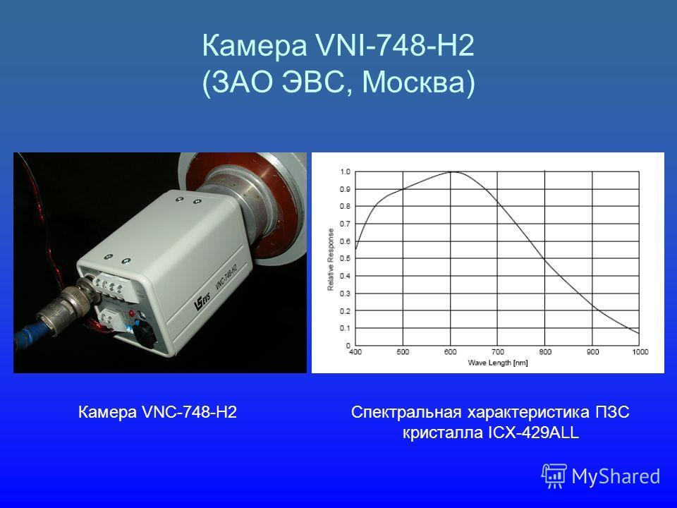 Камера VNI-748-H2 (ЗАО ЭВС, Москва) Камера VNC-748-H2Спектральная характеристика ПЗС кристалла ICX-429ALL