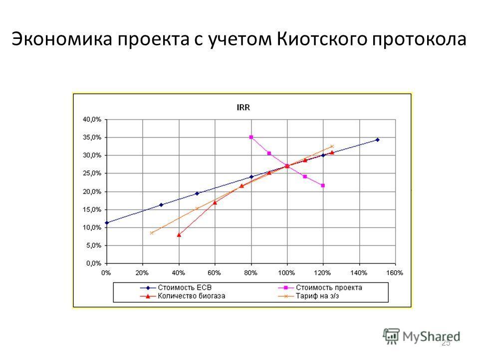 Экономика проекта с учетом Киотского протокола 25