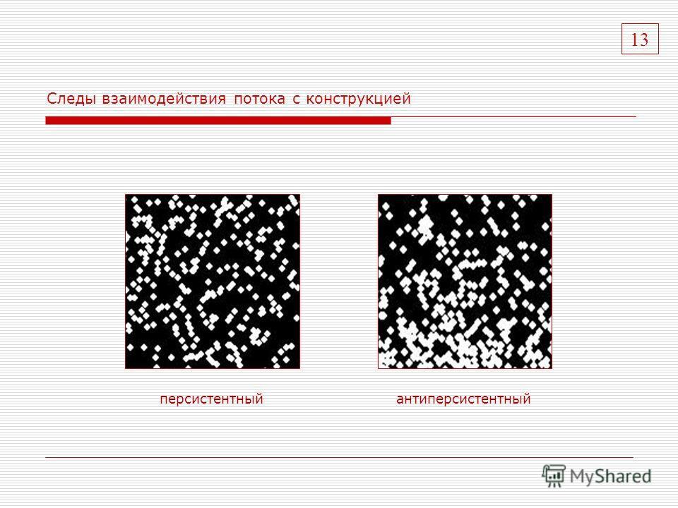 Следы взаимодействия потока с конструкцией персистентный антиперсистентный 13