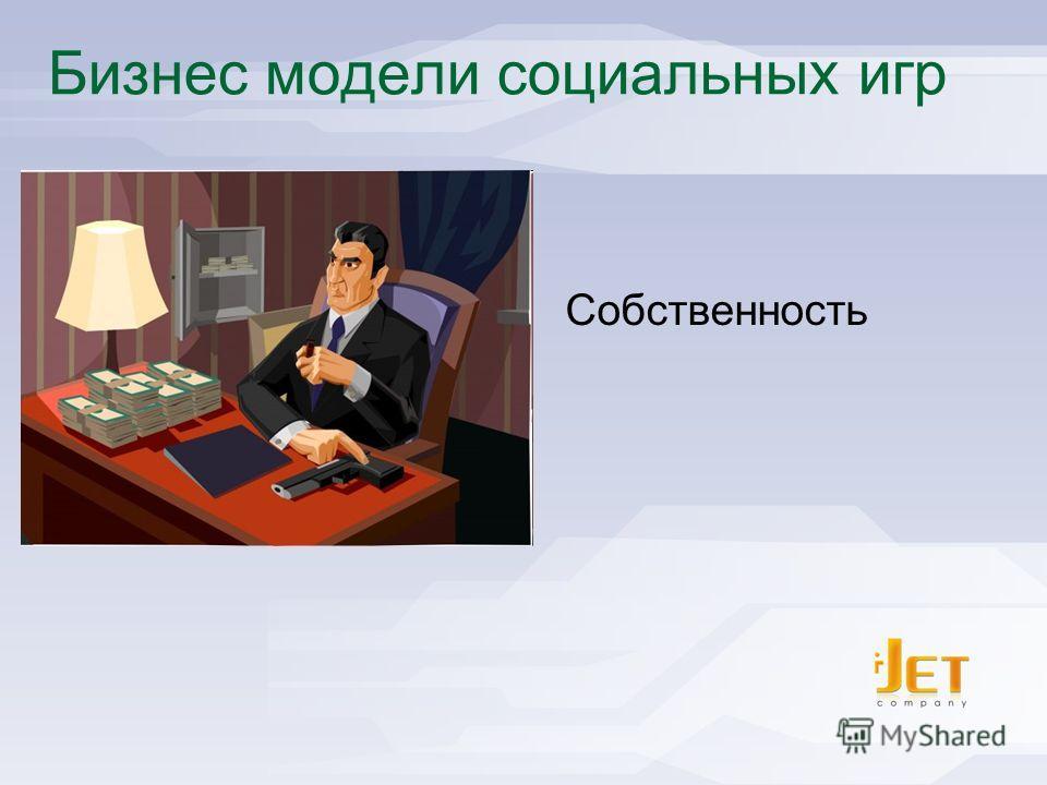 I-Jet - Social Games Publisher Бизнес модели социальных игр Собственность