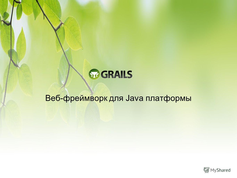 Веб-фреймворк для Java платформы