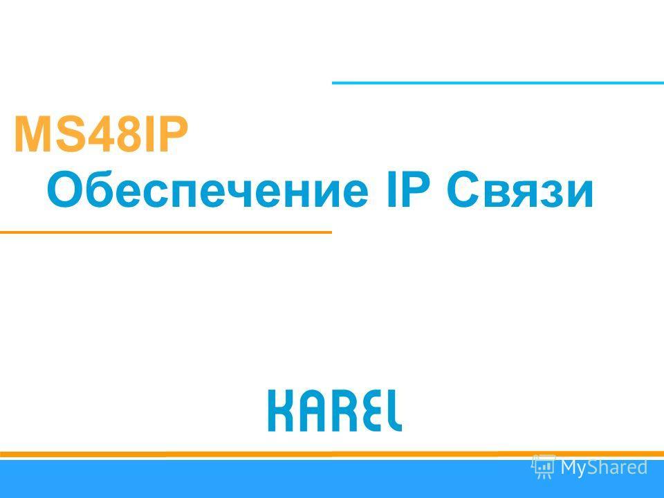 MS48IP Обеспечение IP Связи