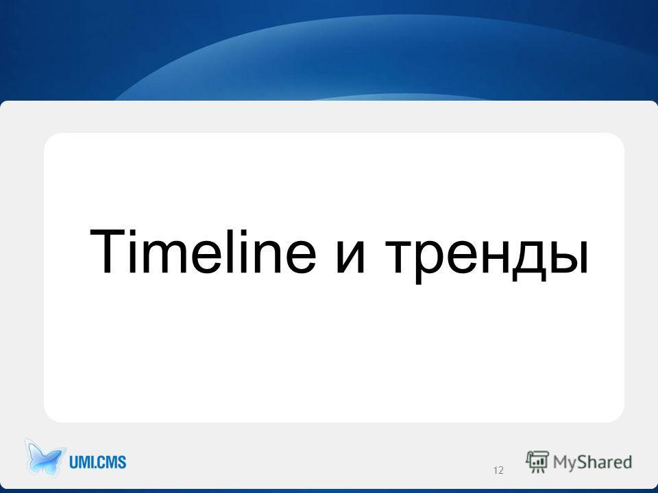 Timeline и тренды 12