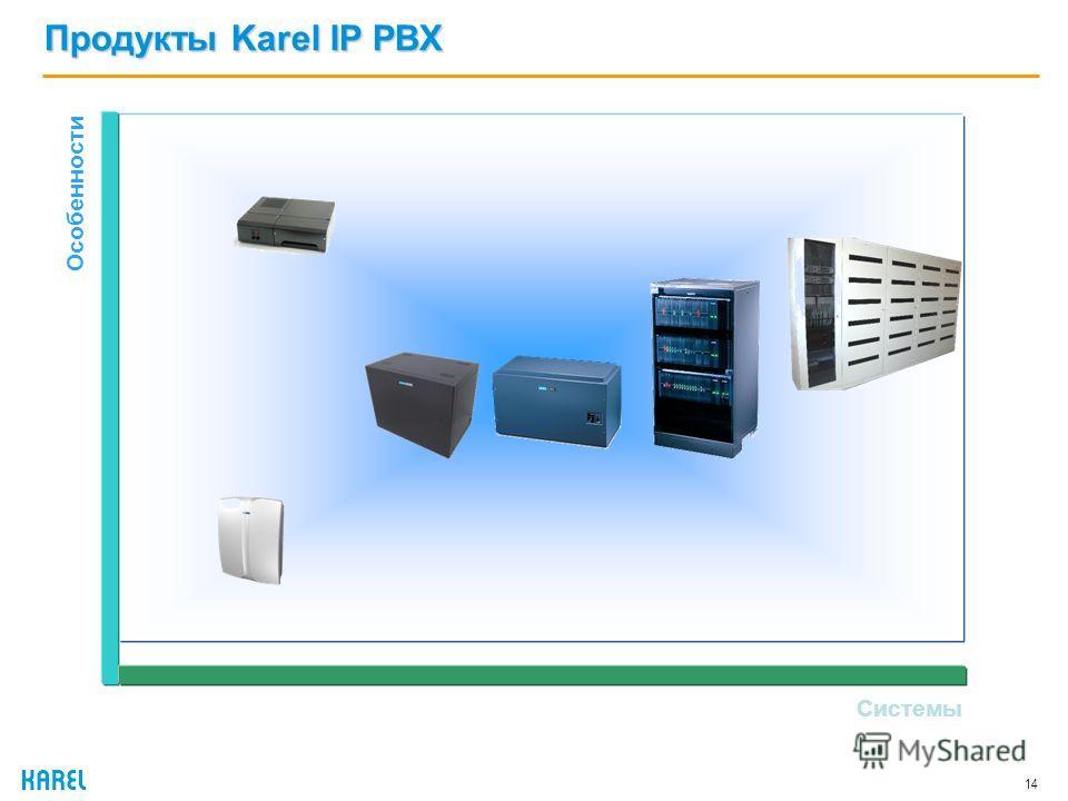 Продукты Karel IP PBX 14 Системы Особенности