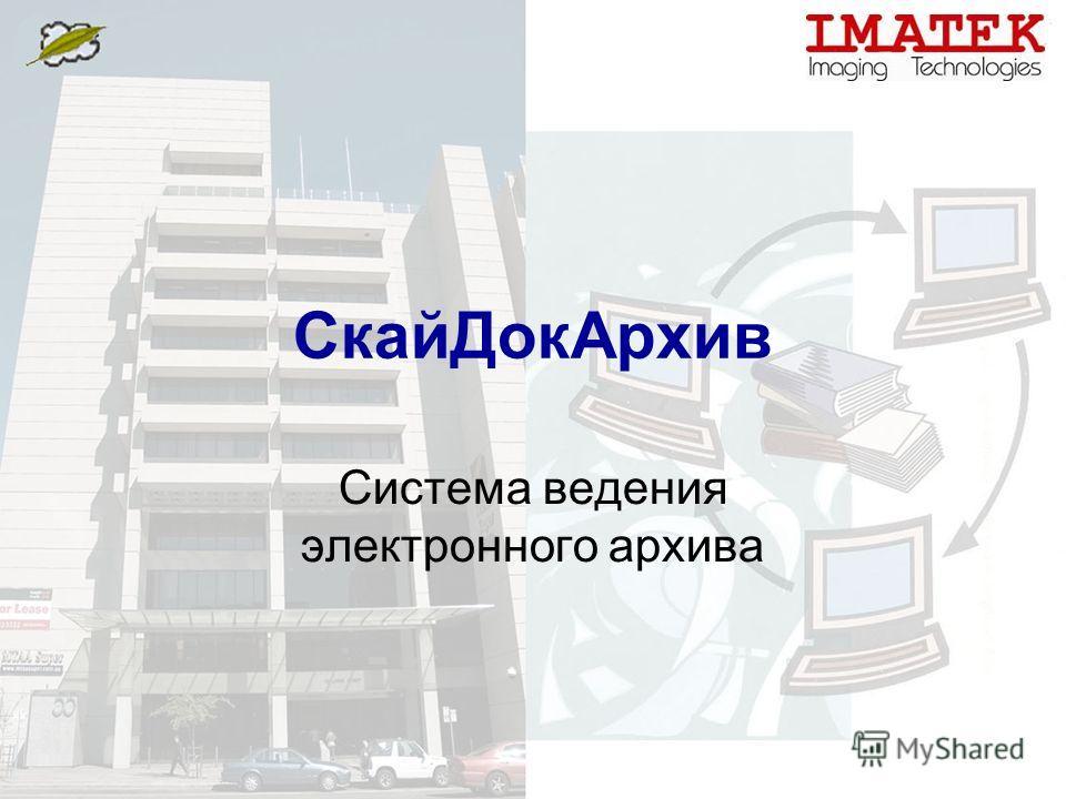 СкайДокАрхив Система ведения электронного архива