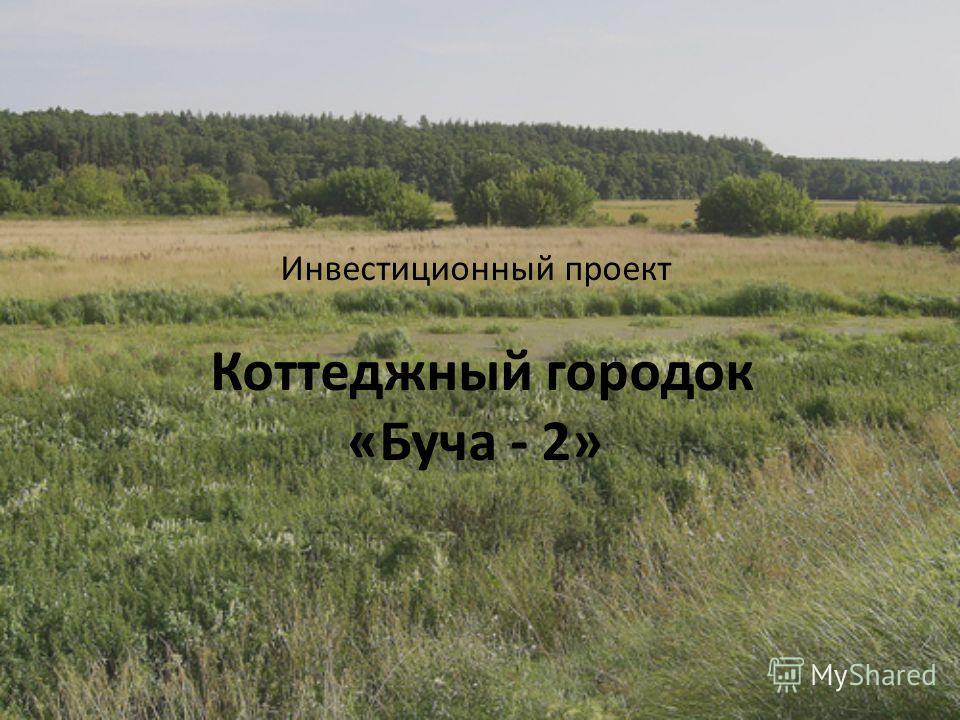 Инвестиционный проект Коттеджный городок «Буча - 2»