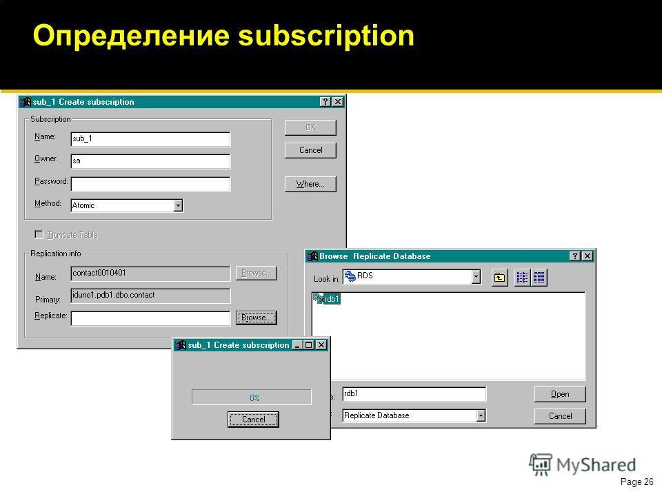 Page 26 Определение subscription