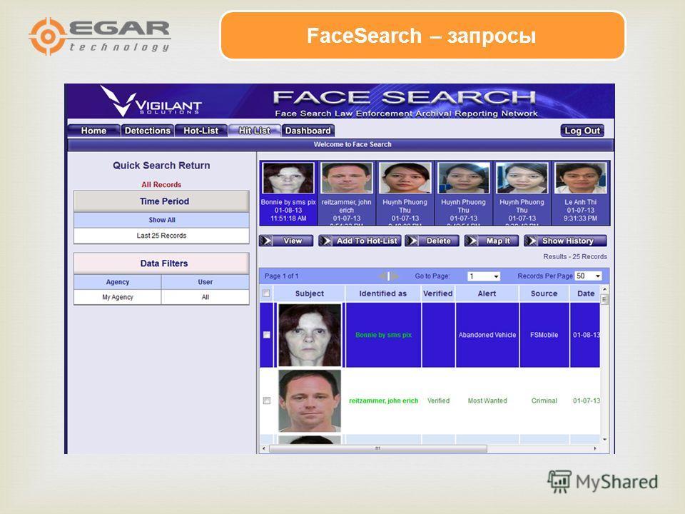 FaceSearch – запросы