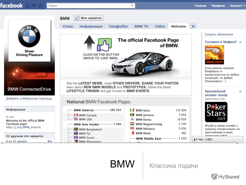 BMW Классика подачи