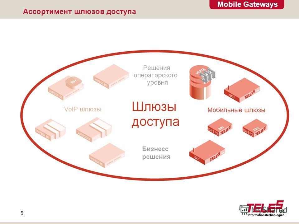 Mobile Gateways 5 Ассортимент шлюзов доступа