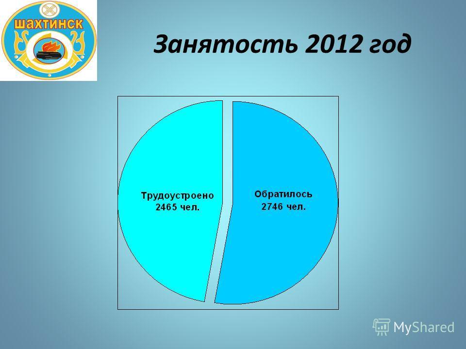 Занятость 2012 год