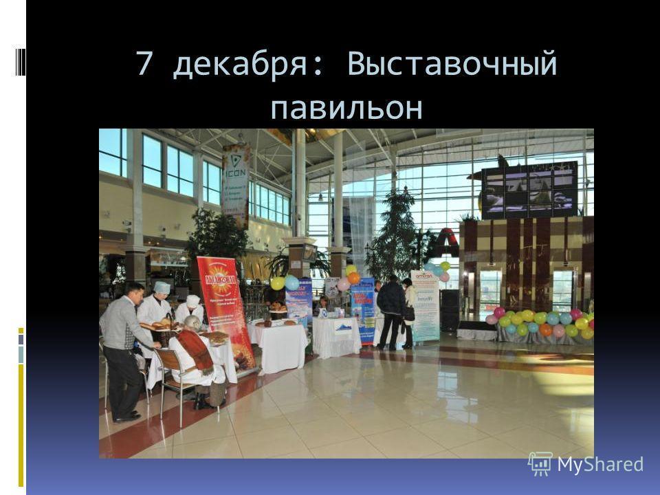 7 декабря: Выставочный павильон Мега Центра г.Алматы