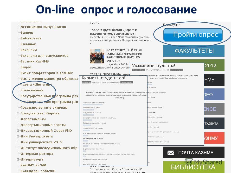 On-line опрос и голосование