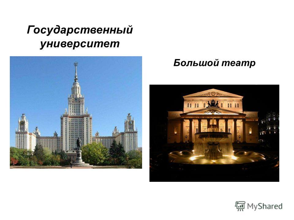 Государственный университет Большой театр