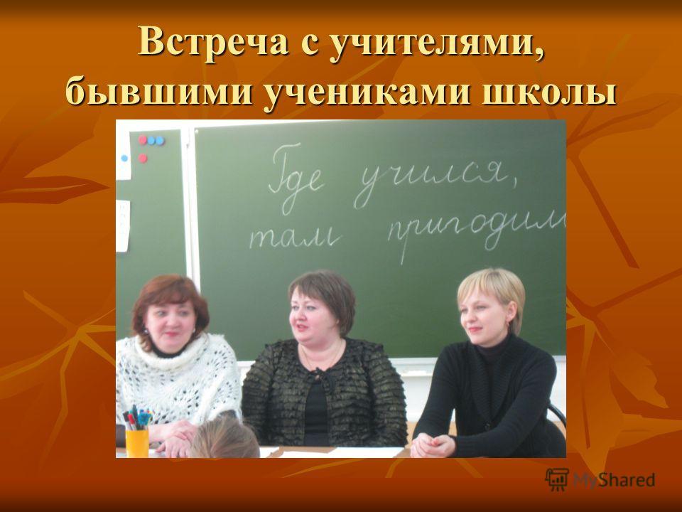Встреча с учителями, бывшими учениками школы