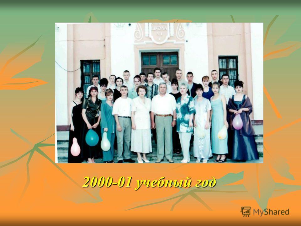 2000-01 учебный год 2000-01 учебный год
