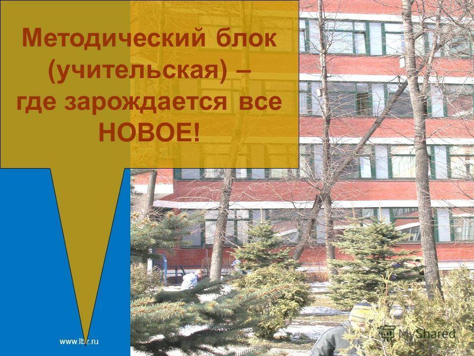 www.lbz.ru Москва, 2007 год Методический блок (учительская) – где зарождается все НОВОЕ!