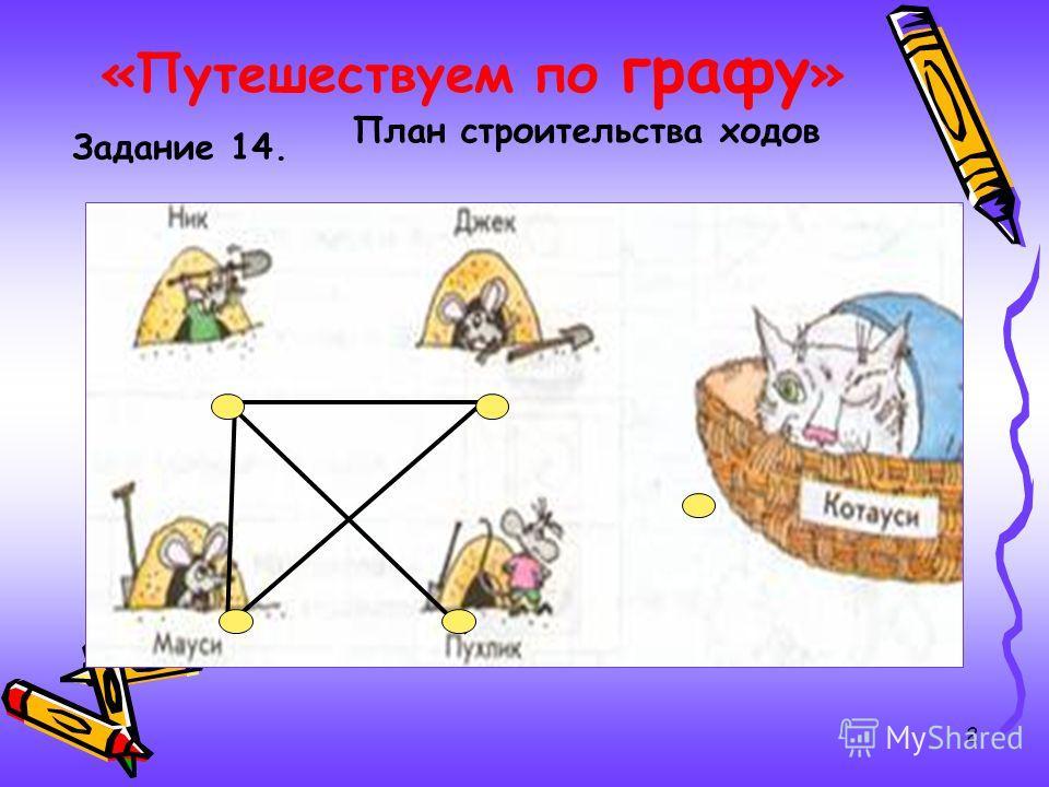 2 План строительства ходов Задание 14.
