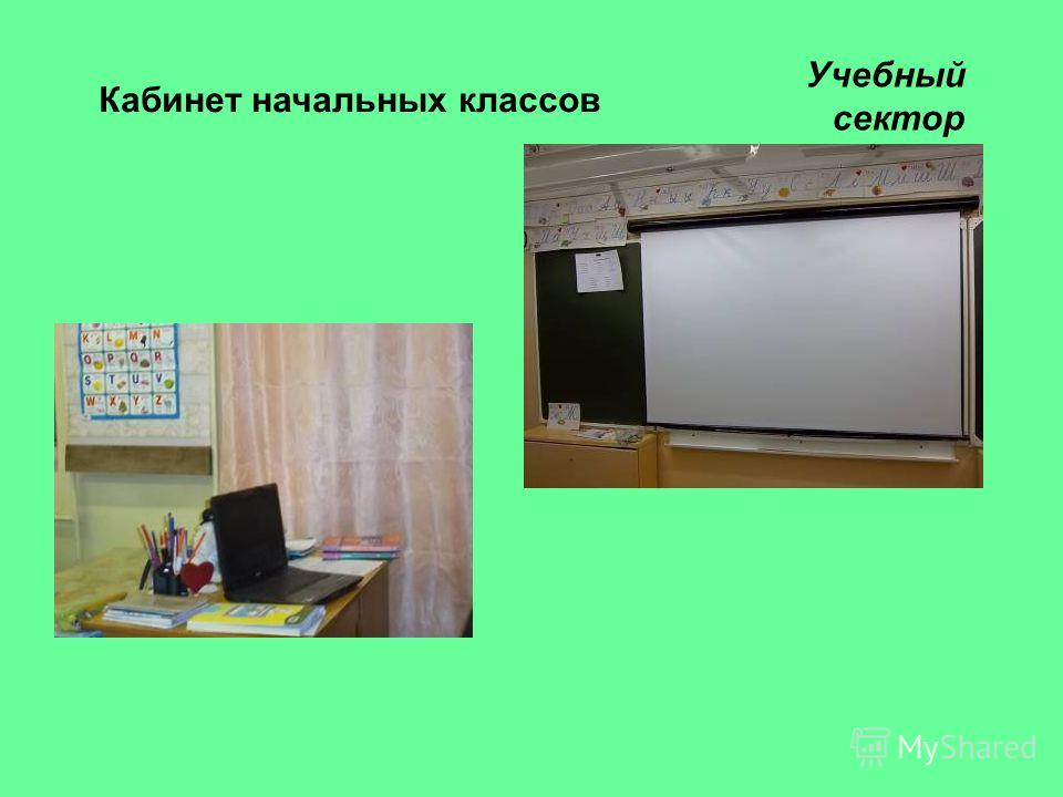 Кабинет начальных классов Учебный сектор