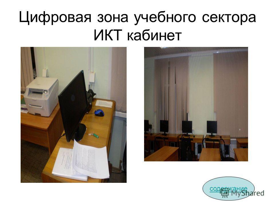 Цифровая зона учебного сектора ИКТ кабинет содержание