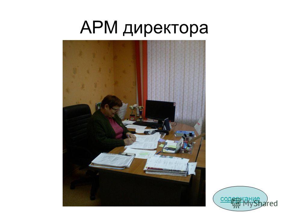 АРМ директора содержание