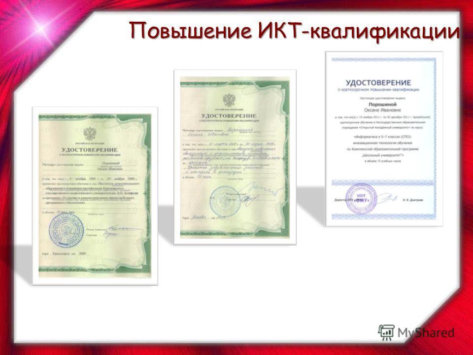 Повышение ИКТ-квалификации