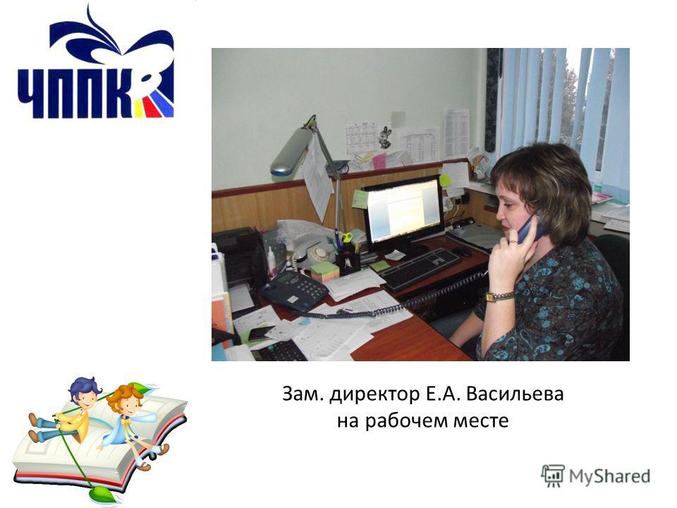 Зам. директор Е.А. Васильева на рабочем месте