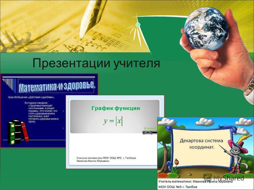 Презентации учителя