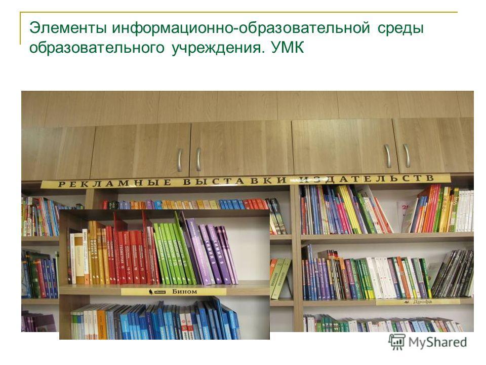 Элементы информационно-образовательной среды образовательного учреждения. УМК