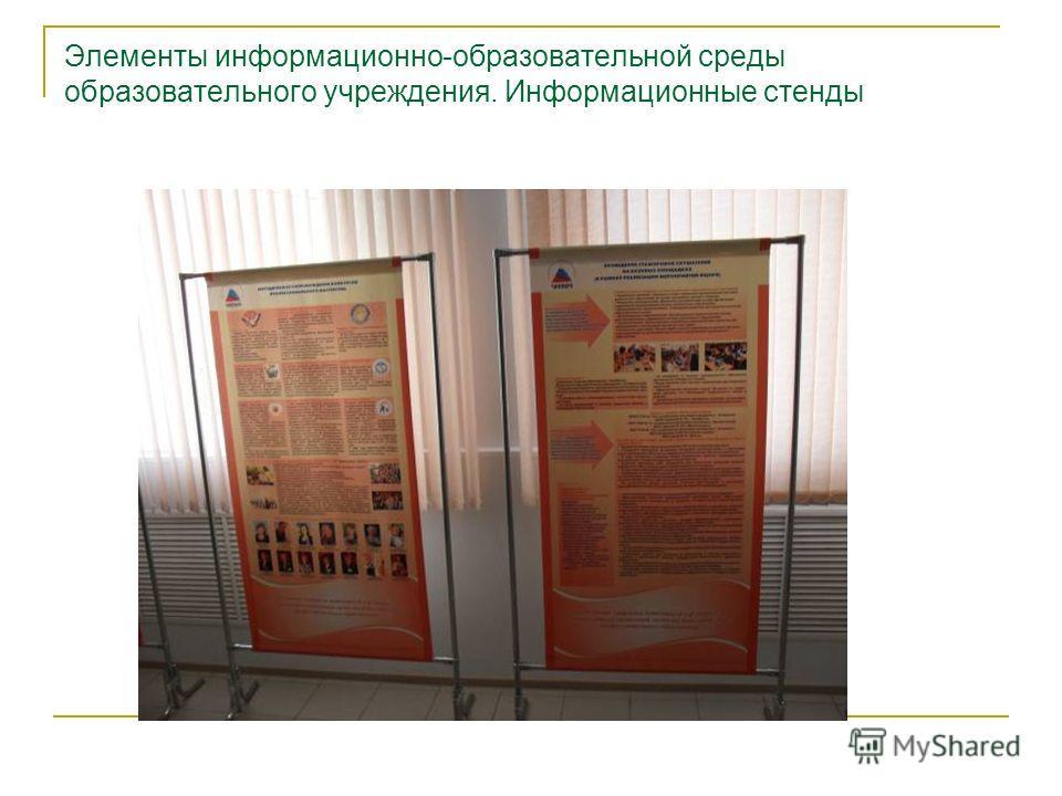 Элементы информационно-образовательной среды образовательного учреждения. Информационные стенды