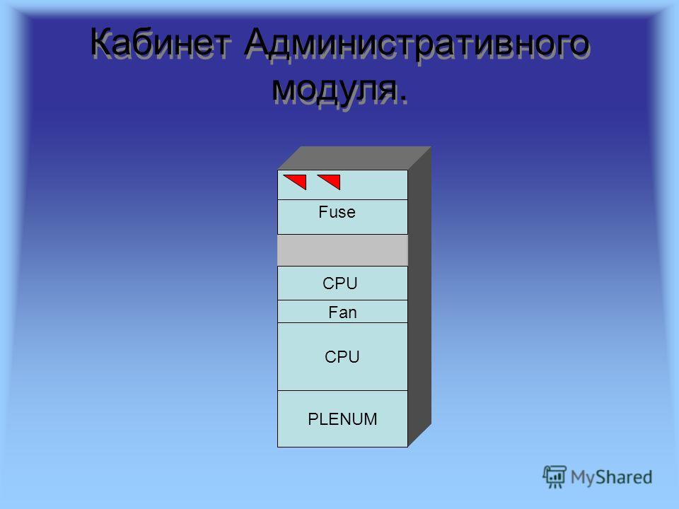 Кабинет Административного модуля. Fuse CPU Fan CPU PLENUM