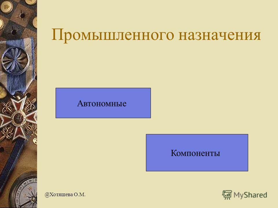 @Хотяшева О.М. Промышленного назначения Автономные Компоненты
