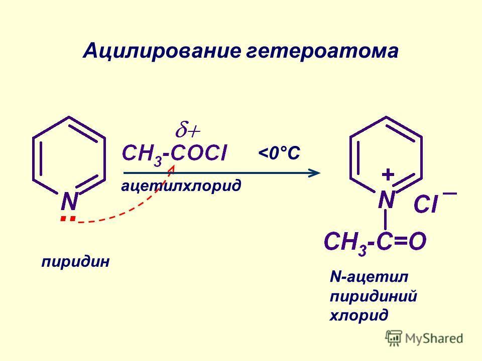 Ацилирование гетероатома пиридин ацетилхлорид