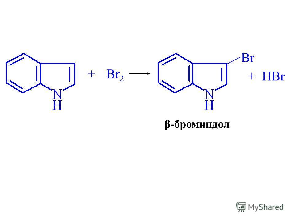 +Br 2 Br β-броминдол +HBr