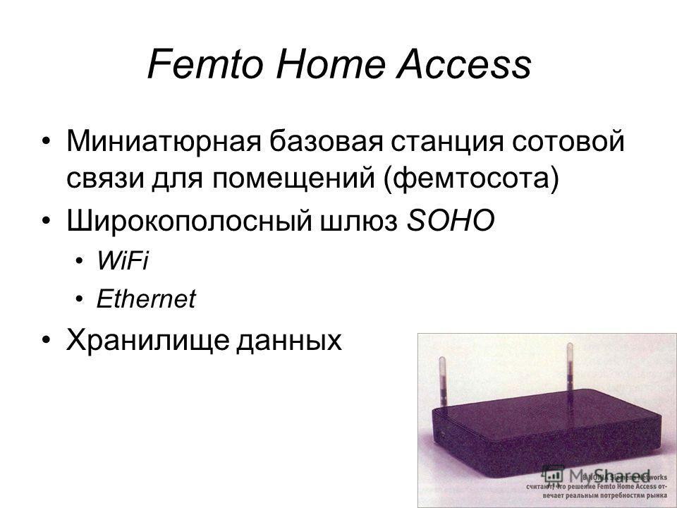 33 Femto Home Access Миниатюрная базовая станция сотовой связи для помещений (фемтосота) Широкополосный шлюз SOHO WiFi Ethernet Хранилище данных
