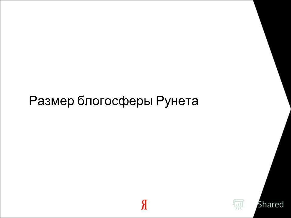 Размер блогосферы Рунета