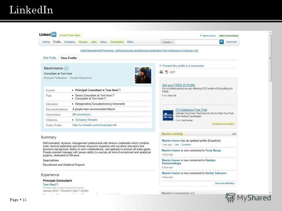 Page 11 LinkedIn