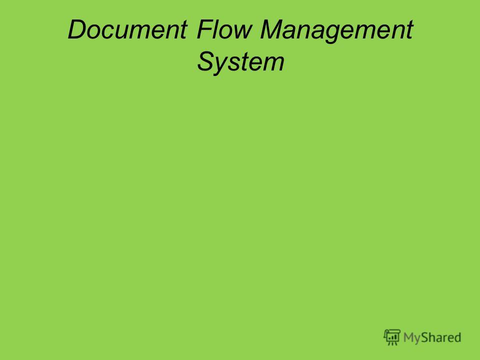 Document Flow Management System